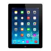 New iOS 7.1.2 homescreen on an black iPad display — Stock Photo