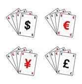 货币的 ace — 图库矢量图片