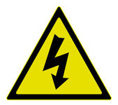 Electricity warning sign — Stock Vector