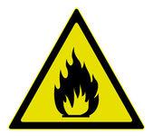 Uyarı işareti yanıcı malzeme — Stok Vektör
