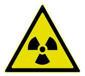 Strahlung-warnschild — Stockvektor