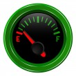 Stock Vector: Gas gage shows almost empty fuel level