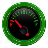 Gas gage shows almost empty fuel level — Stock Vector