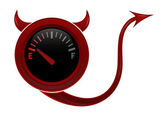 Onda gas gage visar nästan tom bränslenivå — Stockvektor