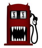 Monster gas pump — Stock Vector