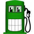 Vector illustration of cheerful gas pump — Stock Vector