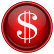 Stock Vector: Red vector dollar icon