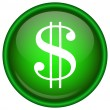Stock Vector: Green vector dollar icon