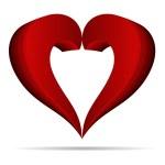 バレンタインの日の抽象的な中心のベクトル イラスト — ストックベクタ