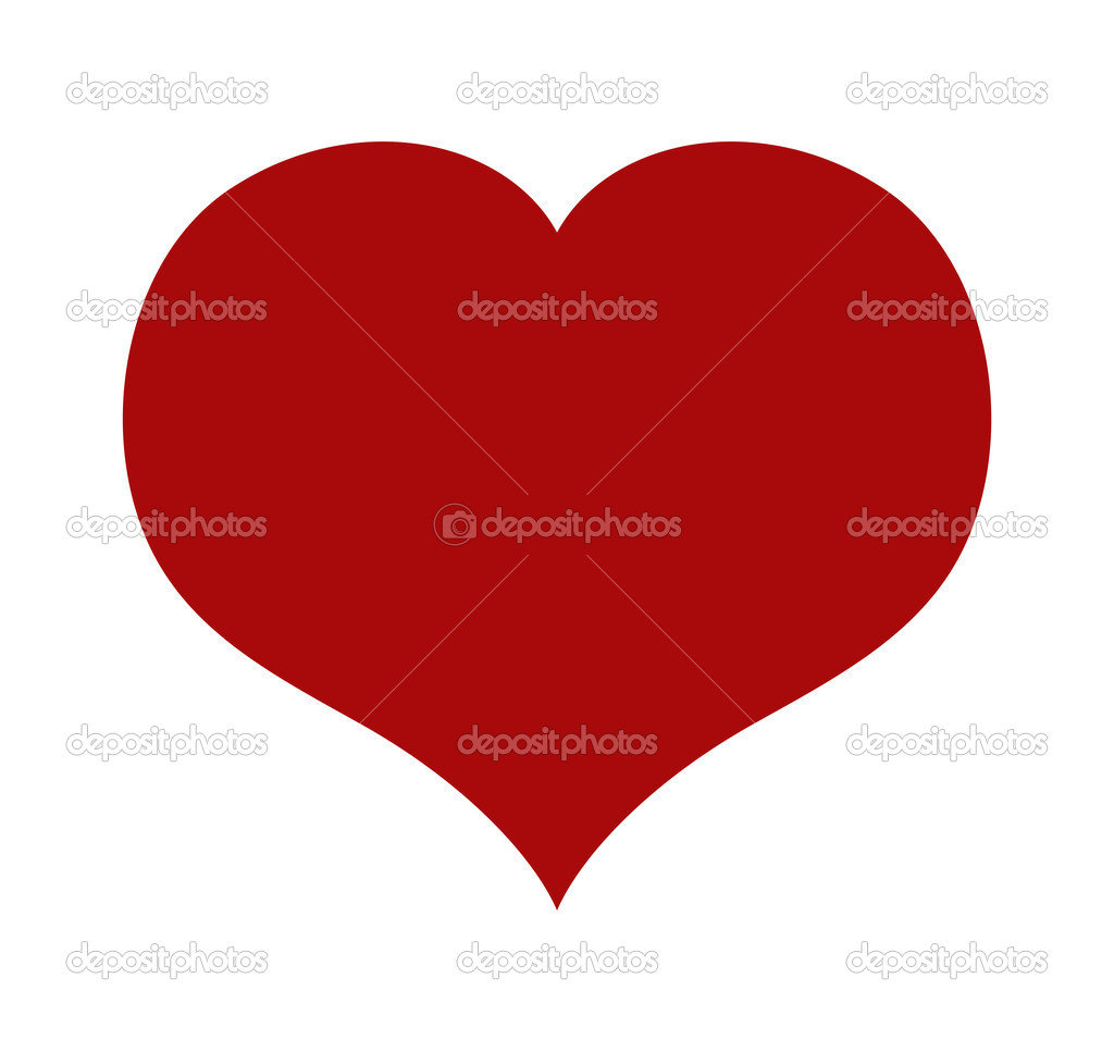 Vector red heart, illustration for Valentines day, isolated on white background  Stock Vector #18657287