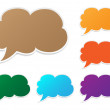 Vector bubble speech icon set, eps10 — Stock Vector #19248343