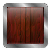 Vector illustration of wood texture icon — Stock Vector