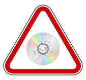 Triandgle teken verbod op piraterij — Stockfoto