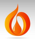 Symbol of a drop, orange, EPS-10 (gradient), vector illustration — Stock Vector