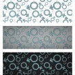 Gender icon seamless pattern set. Vector illustration — Stockvektor