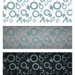Gender icon seamless pattern set. Vector illustration — Stock Vector