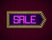 Illuminated Sale billboard. — Stock Vector