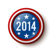 New year 2014 button. Election button. United States Election. Vector illustration — Stock Vector