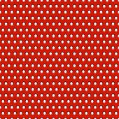抽象红色金属背景与孔、 纹理、 烧烤。无缝模式 — 图库矢量图片