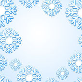 Abstract snowflake background with place for your text — Stock vektor