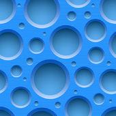 Blå sömlös prickade plast bakgrund — Stockvektor