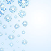 Abstract snowflake background with place for your text — Stock Vector