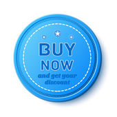 Buy Now, promotion badge — 图库矢量图片