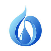 Abstract water drop , icon template — Stock Vector