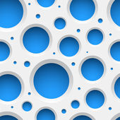 White Plastic Seamless Pattern with holes — Stock Vector