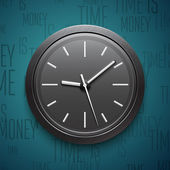 Clock icon. Vector illustration — Vector de stock