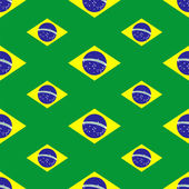 Seamless pattern with Brazil flags — Stock Vector