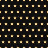 金の星のシームレスなパターン — ストックベクタ