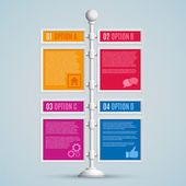 Bannières options infographie — Vecteur