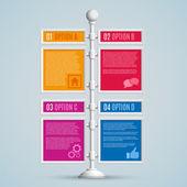 Infographics seçenekleri afiş — Stok Vektör