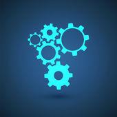 Glowing gears — Stock Vector