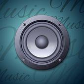 Audio speaker icon — Stock Vector