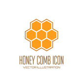 Honey comb icon — Stock Vector