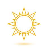 Simple illustration of abstract sun — Stock Vector