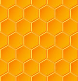 Seamless geometric pattern with honeycombs — ストックベクタ