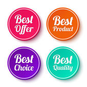 Set of promotional stickers, labels — Stock Vector