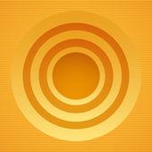 Round yellow banner — Stock Vector