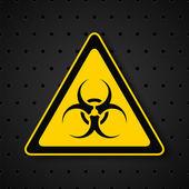 Biohazard symbol on dark background — Stock Vector