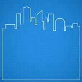 Abstrakt staden bakgrund. Blueprint. — Stockvektor