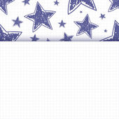 Abstract background with hand drawn stars — Stockvector