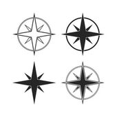 Compass icons isolated on white background — Stock Vector