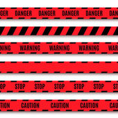 Set of warning tapes — Stock Vector
