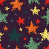 Hand drawn stars seamless pattern — Stock Vector