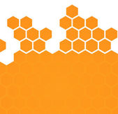 Abstract hexagonal honeycomb background — Vettoriale Stock