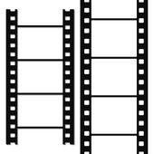 Blank simple film strip set — Stock Vector