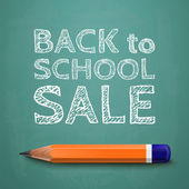 Zurück zu schule verkauf poster — Stockvektor